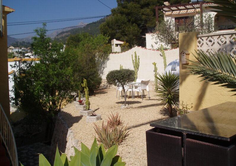 De tuin van Casa Gran Vida
